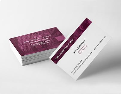 Anna Zubrzycki Studio | Bussines card