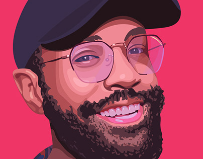 Vector colorful portraits