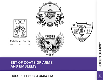 Set of coats of arms and emblems
