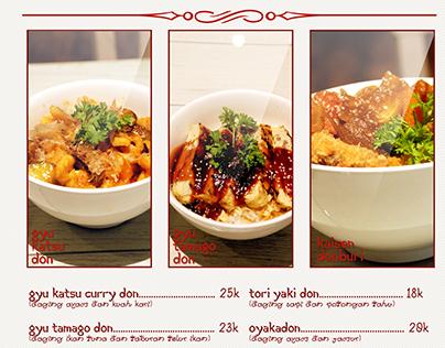 Design Japanese Food Menu