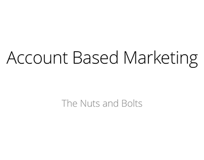 Account Based Marketing Presentation