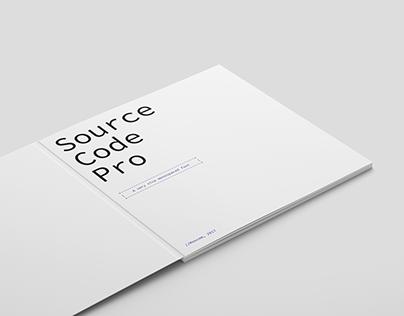 Шрифтовая брошюра. Source Code Pro
