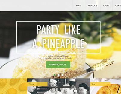 Pineapple Palace - Website UI
