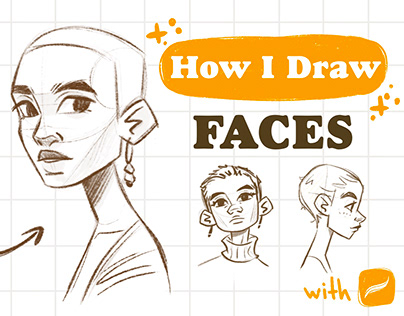 Drawing faces tutorial - in my YouTube channel