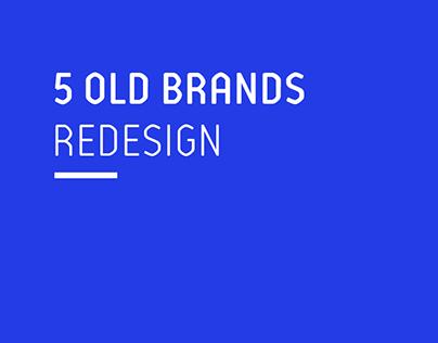 5 Old Brands Redesign