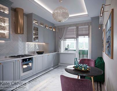 """Проект квартиры для пары в стиле """" Luxury"""""""