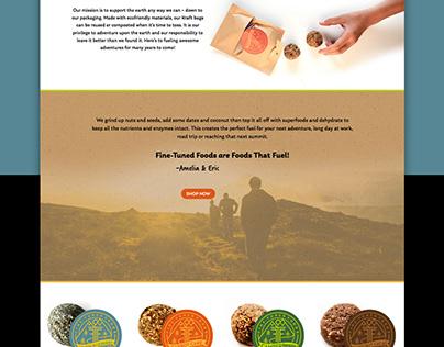 Fine-Tuned Foods Website Design + Development