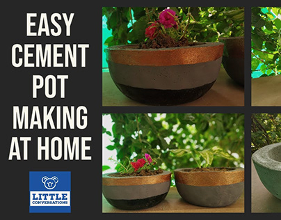 Easy Cement Pot Making At Home