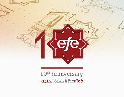 EFE 10th Year Anniversary Branding