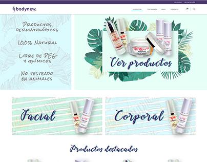 Propuesta home para Ecommerce productos belleza