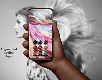 Hair color change App Concept