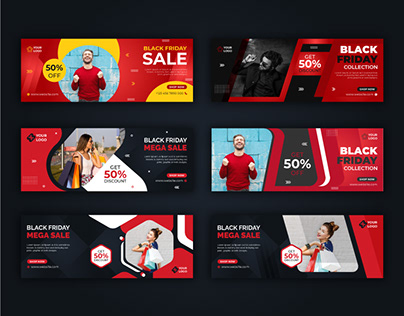 Black Friday Fashion Facebook Cover Template