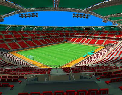 Soccer stadium 3D model for mobile games