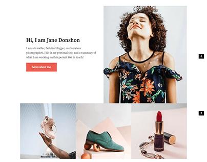 Fashion, clothing WordPress ecommerce website