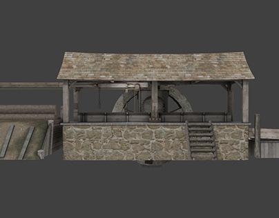 Medieval Sawmill Design