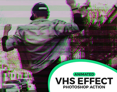 Animated VHS Video Effect Action