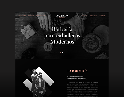 Jackson Barbershop - Web Design