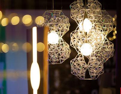 """Декоративный светильник """"Части целого""""/ Glass structure"""
