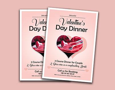 Valentine Day Menu Card