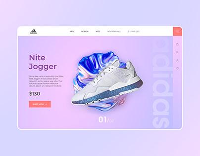 Adidas Web design UI/UX