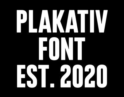 Plakativ Font/Typeface