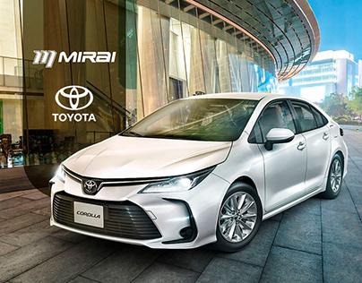 Anúncio Corolla | Mirai Toyota