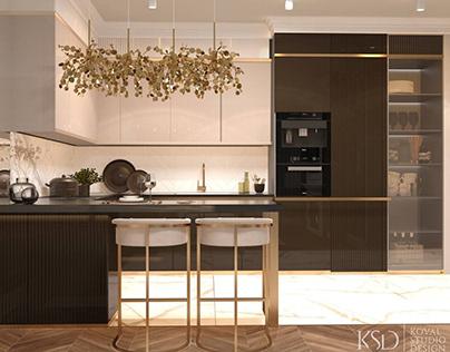 KSD-проект. Дизайн интерьера кухни/гостиной