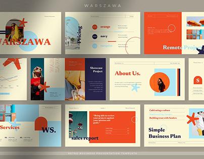Warszawa Aesthetic Presentation Template