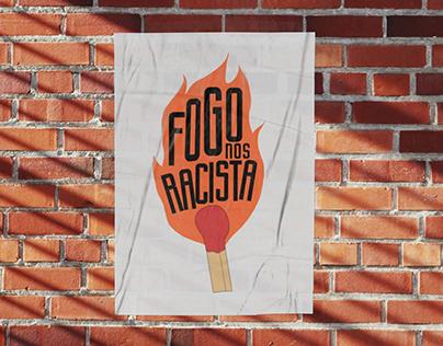 Ilustração: Fogo nos Racista