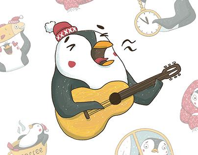 Sticker Pack Penguin