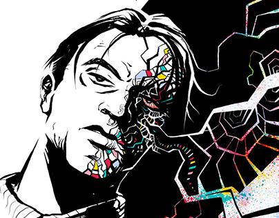 """FACES"" Rollie - illustration"