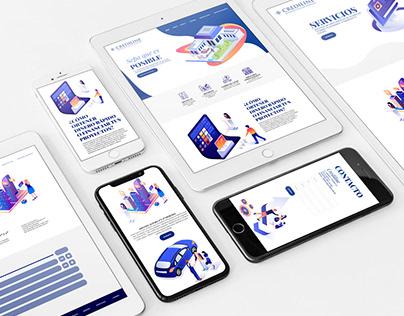 Crediline - web design