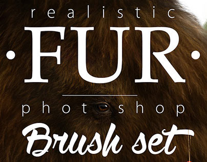 • Realistic FUR • Brushes for Photoshop