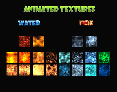 Animated Texture- Fire & Water