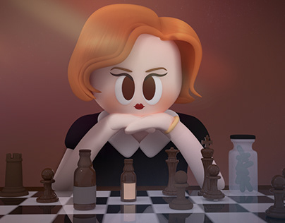 [3D LOOP] The Queen's Gambit : 3D Elizabeth Character