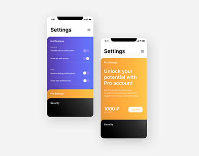 Daily UI. Day 7. Settings