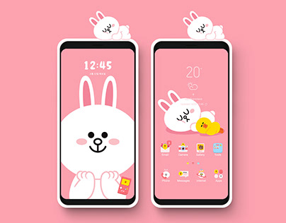 Line Friends Cony - Smart Cover Mobile Theme