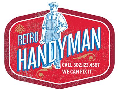 Retro Handyman logo identity