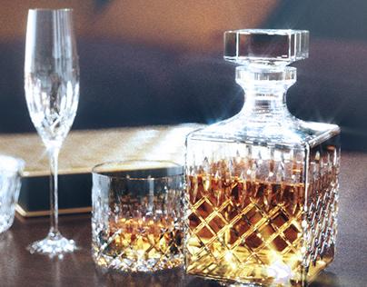 Kryształy, karafka, szkło - Glass 3D