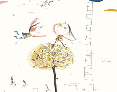 Illustration libre : L'arbre à soleil....