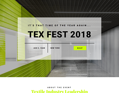One-Page-Textile-Convention Landing Page
