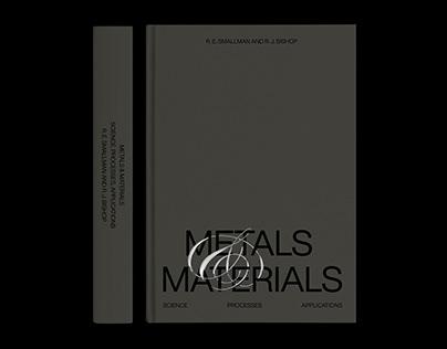 """EXPERIMENTAL BOOK COVER OF """"METALS & MATERIALS"""""""