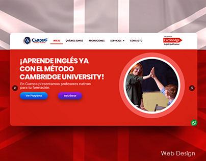 Cardiff English School Web Design