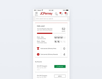 JCPenney Dashboard Concept