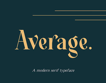 Average - Modern Serif Typeface