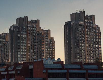 Brutalist architecture of New Belgrade