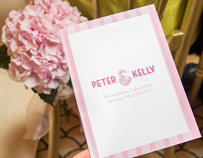 Designs for Peter and Kelly's Wedding