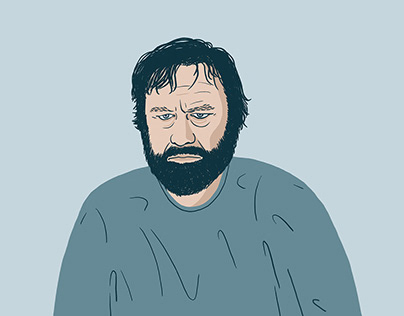 Portrait Illustration Philosopher Slavoj Žižek