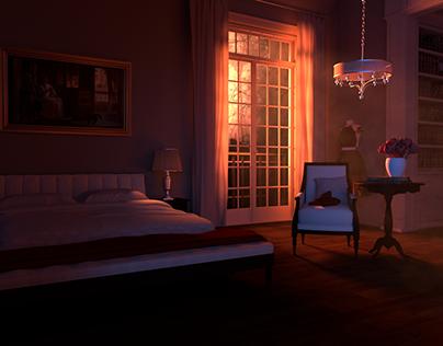 Romantic Bedroom Lighting On Behance