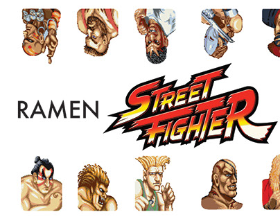 Crane Ramen Street Fighter Punch Card